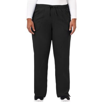 Plus Size Women's Jockey Scrubs Women's Extreme Comfy Pant by Jockey Encompass Scrubs in Black (Size L(14-16))