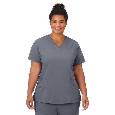 Plus Size Women's Jockey Scrubs Women's Favorite V-Neck Top by Jockey Encompass Scrubs in Pewter (Size M(10-12))