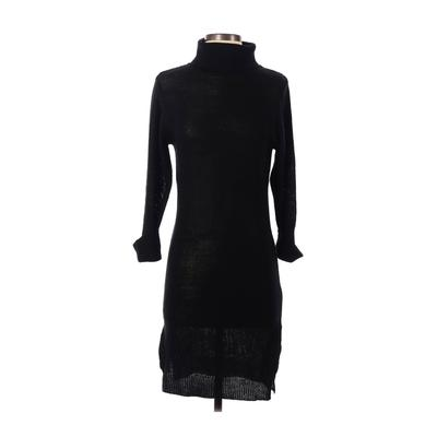 Brave Soul - Brave Soul Casual Dress - Sweater Dress: Black Solid Dresses - Used - Size Small