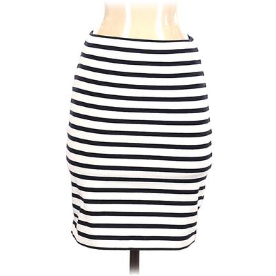 T by Alexander Wang Casual Skirt: White Stripes Bottoms - Size Small