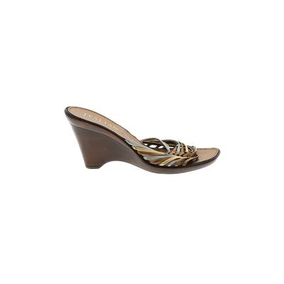 Italian Shoemakers Footwear - Italian Shoemakers Footwear Wedges: Gold Solid Shoes - Size 8 1/2