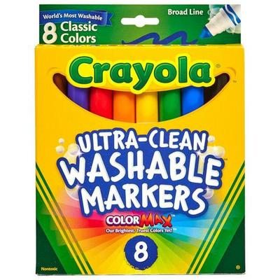 Crayola 8 Count Nontoxic Ultra-Clean Washable Markers