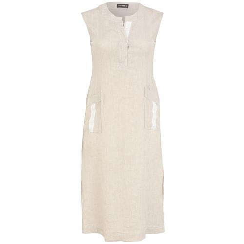 Kleid mit Kontrastverarbeitung Doris Streich savanne