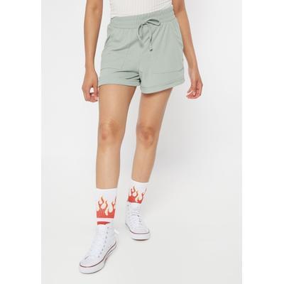 Rue21 Womens Mint Super Soft Ribbed Knit Shorts - Size Xl