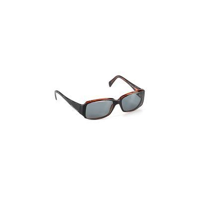 Donna Karan New York Sunglasses: Black Solid Accessories