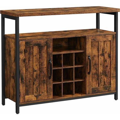 Songmics - VASAGLE Sideboard, Küchenschrank, Aufbewahrungsschrank, Weinschrank, mit 2 Türen, für