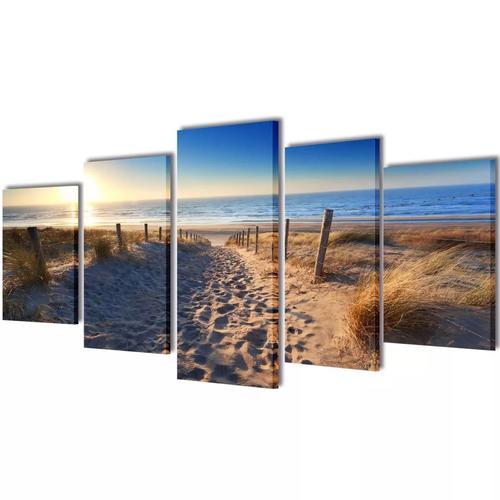 Bilder Dekoration Set Strand 200 x 100 cm