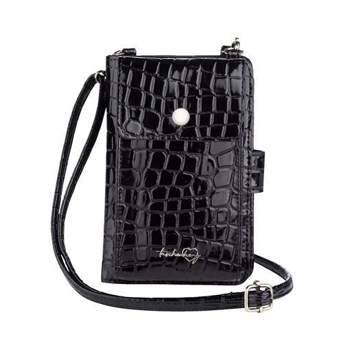 Handytasche Taschenherz schwarz-kroko