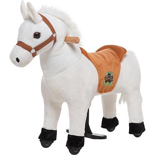 Reittier Pferd Snowy auf Rollen, XS Mini