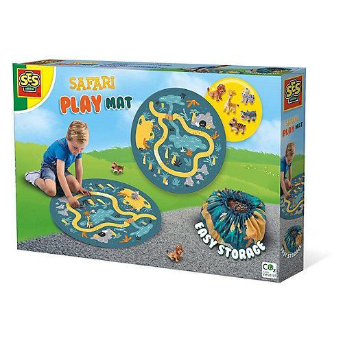 Safari Spielmatte und Aufräumsack 2 in 1 bunt
