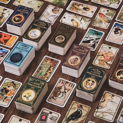 Cartes Vintage rétro, 100 pièces...