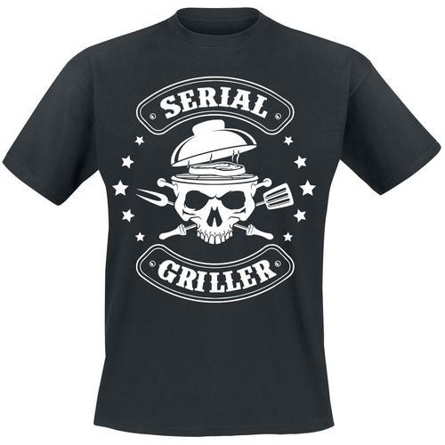 Serial Griller Herren-T-Shirt - schwarz