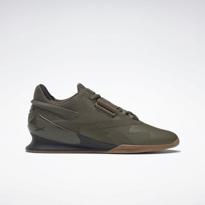 Reebok Men's Legacy Lifter II Weightlifting Shoes in Army Green/Army Green/Core Black Size 9 - Training Shoes