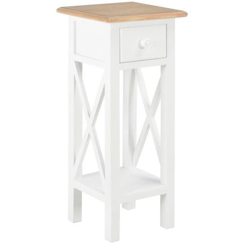 Beistelltisch Weiß 27 x 27 x 65,5 cm Holz