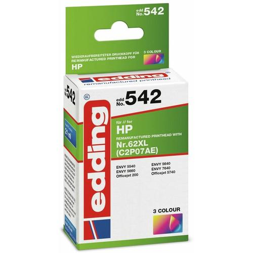 Tintenpatrone EDD-542, für HP 62XL (C2P07AE) - Edding