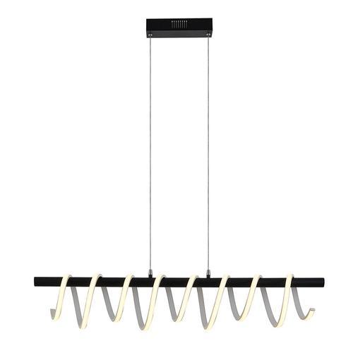 Lucande Kimri LED-Hängeleuchte, Spirale, Esstisch