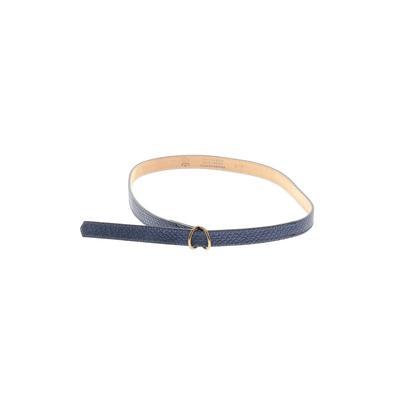 PETER MILLAR - PETER MILLAR Leather Belt: Blue Solid Accessories - Size Medium