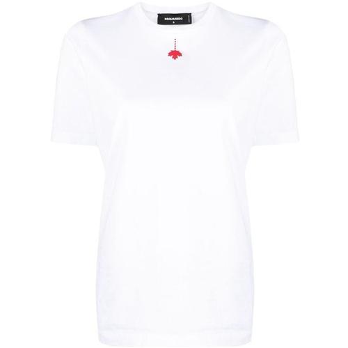 DSquared² T-Shirt mit Ahornblatt-Print