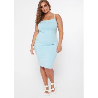 Rue21 Womens Plus Size Blue Rhinestone Butterfly Square Neck Midi Dress - Size 3X