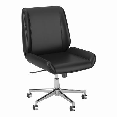 kathy ireland® Home by Madison Avenue Wingback Leather Office Chair in Black - Bush Furniture MDSCH3701BLL-Z