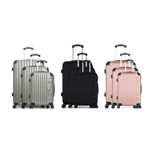 Koffer: 3er-Set Koffer/Silber