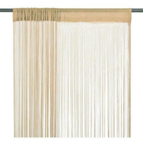 Fadenvorhänge 2 Stk. 140 x 250 cm Beige 01604 - Topdeal