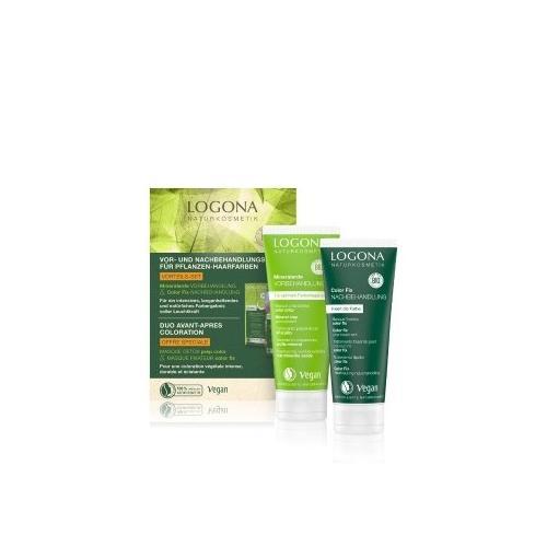 Logona Pflanzenhaarfarben Vor- und Nachbehandlungsset Haarpflegeset 200 ml