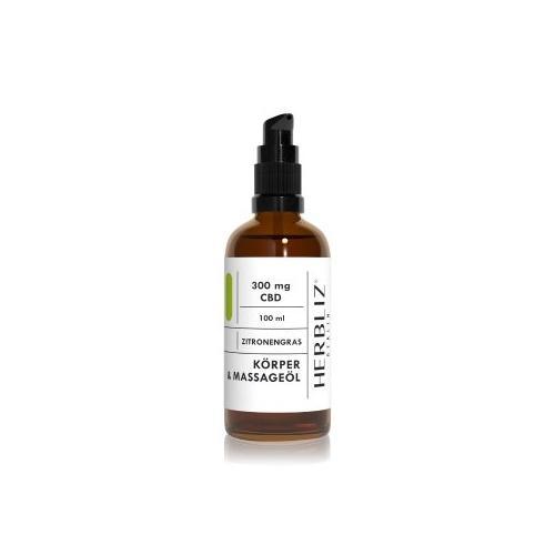 HERBLIZ Zitronengras CBD Massageöl 150 ml