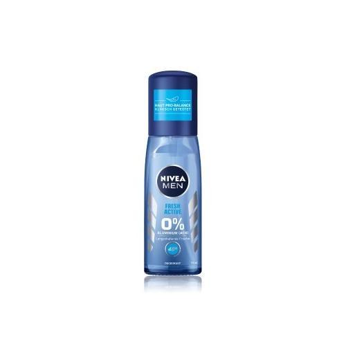 NIVEA MEN Fresh Active 0% Aluminium Zerstäuber Deodorant Spray 75 ml