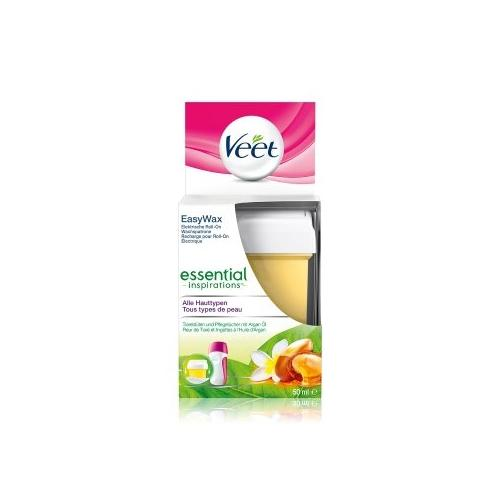 Veet Easy-Wax Roll-on Wachspatrone Essential Inspirations Warmwachs 50 ml
