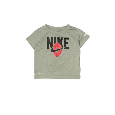 Nike Active T-Shirt: Gray Solid ...