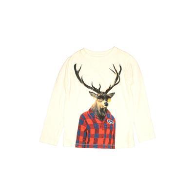 Gap Kids - Gap Kids Long Sleeve T-Shirt: Ivory Solid Tops - Size 7