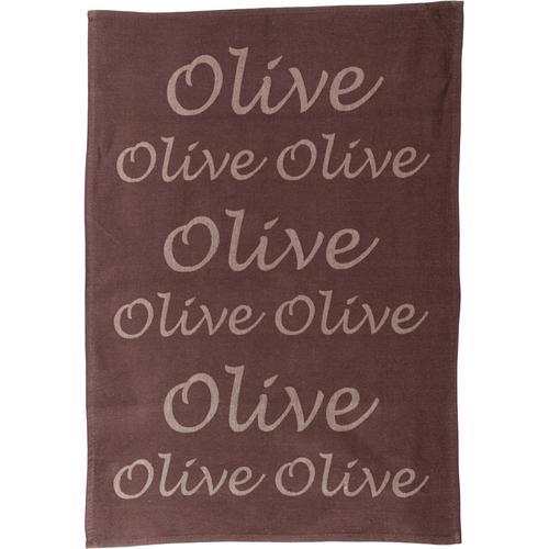 stuco Geschirrtuch Olive, (Set, 3 tlg.), Jacquardgewebe braun Geschirrtücher Küchenhelfer Haushaltswaren