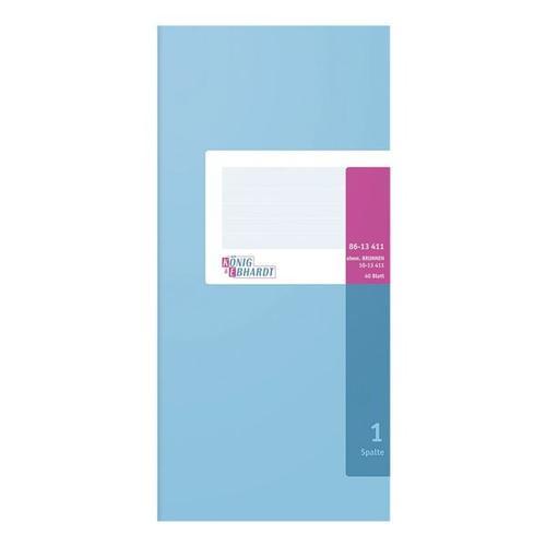 Spaltenbuch 2/3 A4 1 Spalte weiß, König & Ebhardt