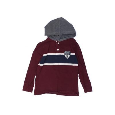 The Children's Place - The Children's Place Pullover Hoodie: Burgundy Solid Tops - Size 5