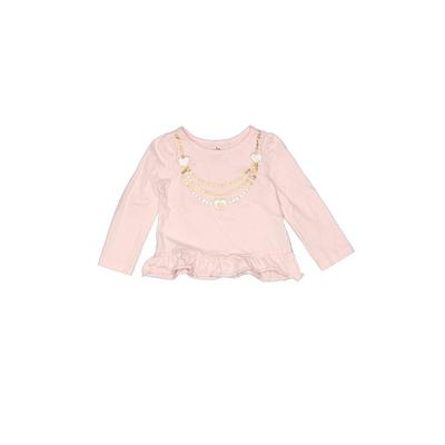 Kids - Kids Long Sleeve T-Shirt: Pink Solid Tops - Size 2Toddler