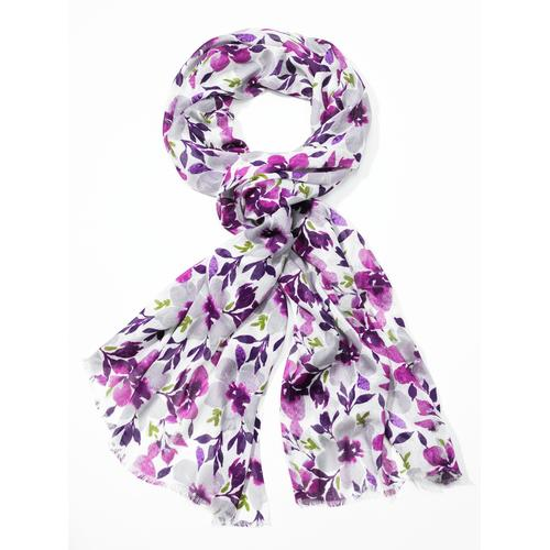 Avena Damen Aloe vera-Schal Floral Lila