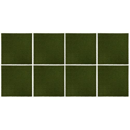 Kunstrasen-Fliesen 8 Stk. 50x50x2,5 cm Gummi