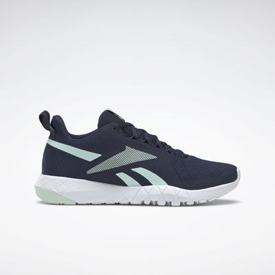 Reebok Women's Flexagon Force 3 Training Shoes in Mist/Vector Navy/Ftwr White Size 9.5 - Training Shoes