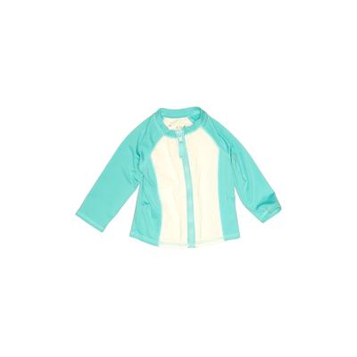 Cat & Jack Rash Guard: Teal Solid Sporting & Activewear - Size 12 Month