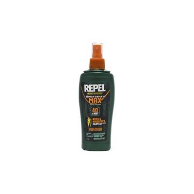 Repel Insect Repellent Sportsmen Max Formula Spray Pump - Spray - Kills Mosquitoes, Gnats, Chiggers, Ticks, Flies, No-see-ums, Biting Flies - 6 fl oz - Clear - 1 Each - DVOCB941013