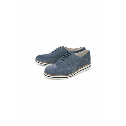 Klassische Schnürer Schnürschuh COX blau