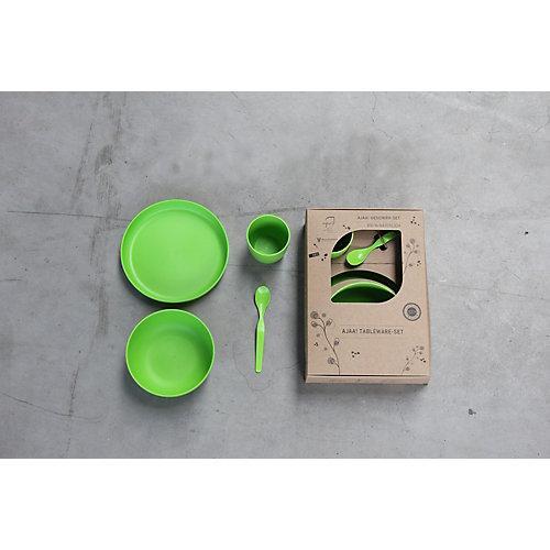 Geschirr-Set 4-teilig nachhaltig grün