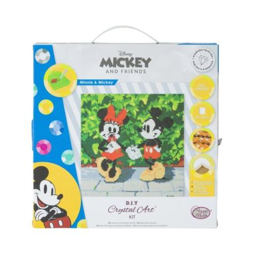 Crystal Art Disney Minnie and Mickey, 30 x 30 cm Kristallkunst-Kit