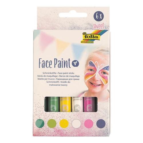 4x 6er-Pack Face Paint Stifte »Sweet« grün, folia