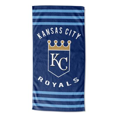 Royals Stripes Beach Towel by MLB in Multi