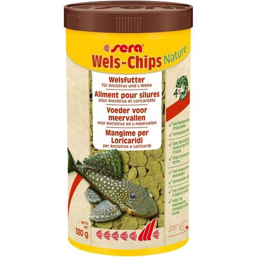 Wels Chips Nature 250ml Bodenfuttertabletten Futtertabletten Fischfutter - Sera
