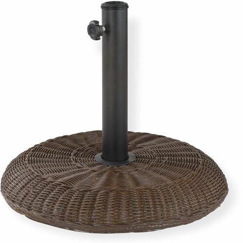 Sonnenschirmständer Schirmständer im Rattan Design 16 kg Ständer für Schirm