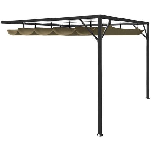 Gartenpavillon mit Ausziehbarem Dach 3x3 m Taupe 180 g/m² - Youthup