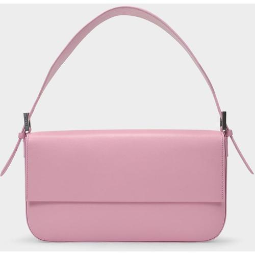 By Far Tasche Manu aus rosafarbenem Leder